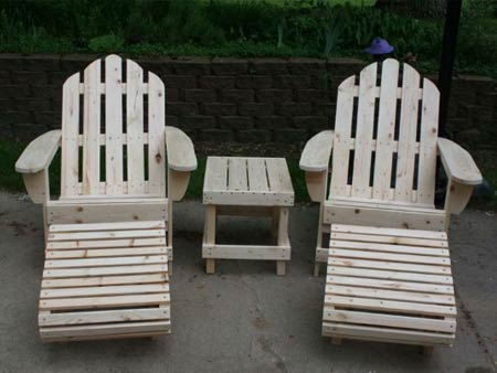 Ed's Outdoor Furniture - Adirondack Chairs, Foot Rests and Side Stool