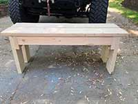 Ed's Outdoor Furniture - Bench