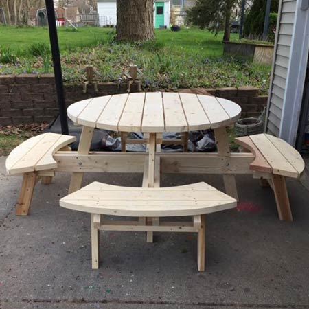 Ed's Outdoor Furniture - Circular Table & Benches