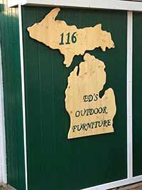 Ed's Outdoor Furniture - Michigan Wall Sign