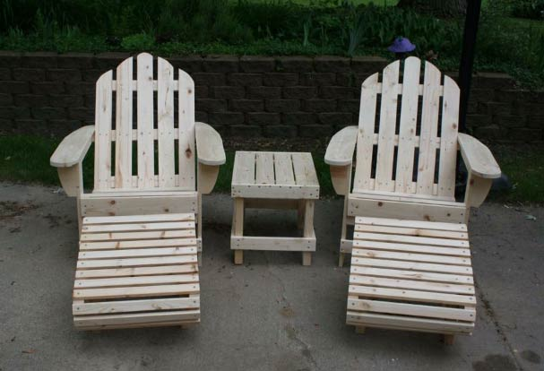 Ed S Outdoor Furniture Adirondack Chairs Foot Rests And Side Stool